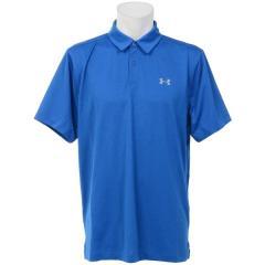 (セール)(送料無料)UNDER ARMOUR(アンダーアーマー)ゴルフ 半袖ポロ 半袖ハイネック UA COOLSWITCH POLO 1290143 メンズ BLUE MARKER/BLUE MARKER/STEEL