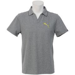 (セール)PUMA(プーマ)メンズスポーツウェア 半袖機能ポロシャツ スキッパー 59188603 メンズ ミディアム グレー ヘザー