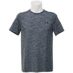 (セール)UNDER ARMOUR(アンダーアーマー)メンズスポーツウェア 半袖機能Tシャツ UA THREADBORNE KNIT SS 1289596 メンズ GRAPHITE/BLACK