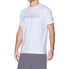 (セール)UNDER ARMOUR(アンダーアーマー)メンズスポーツウェア 半袖機能Tシャツ UA MESH GELSTACKED WORDMARK SS 1289892 メンズ WHITE/CLEAR