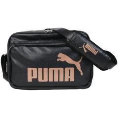 (セール)PUMA(プーマ)スポーツアクセサリー エナメルバッグ エナメル マット ショルダー M 7466701 ブラック/メタリック ブラック