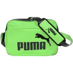 (セール)PUMA(プーマ)スポーツアクセサリー エナメルバッグ エナメル マット ショルダー M 7466703 グリーン ゲッコ/ブラック