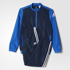 (セール)adidas(アディダス)ジュニアスポーツウェア ウインドスーツ BOYS ウーブントラックスーツ上下セット(ジョガーパンツ)MLC09 BQ3012 ボーイズ カレッジネイビー/ブルー