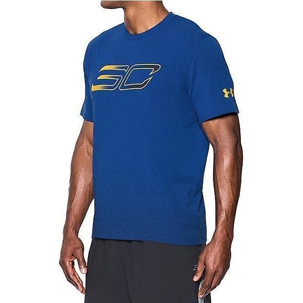 (セール)UNDER ARMOUR(アンダーアーマー)バスケットボール メンズ 半袖Tシャツ UA SC30 FADED LOGO TEE 1290570 メンズ ROYAL/MIDNIGHT NAVY/TAXI