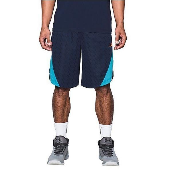 (セール)UNDER ARMOUR(アンダーアーマー)バスケットボール メンズ プラクティスショーツ UA SC30 LONGSHOT 11IN SHORT 1290555 メンズ MIDNIGHT NAVY/ISLAND BLUES/LONDON ORANGE