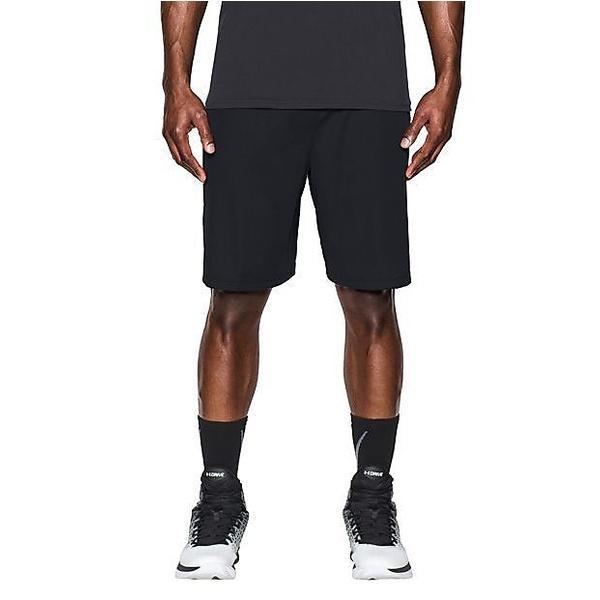 (セール)UNDER ARMOUR(アンダーアーマー)バスケットボール メンズ プラクティスショーツ UA SELECT 9IN SHORT 1290651 メンズ BLACK/BLACK/VAPOR GREEN