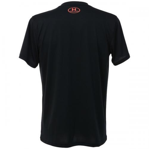 (セール)UNDER ARMOUR(アンダーアーマー)バスケットボール メンズ 半袖Tシャツ UA TECH BB ICON T 1295512 メンズ BLACK/PHOENIX FIRE/PHOENIX FIRE