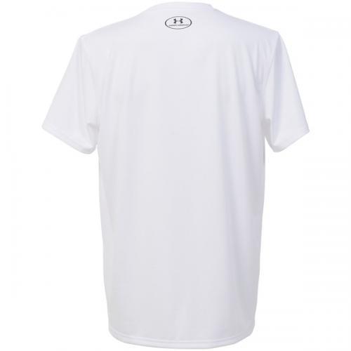 (セール)UNDER ARMOUR(アンダーアーマー)バスケットボール メンズ 半袖Tシャツ UA TECH BASKETBALL SS T 1295513 メンズ WHITE/BLACK/BLACK