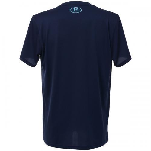 (セール)UNDER ARMOUR(アンダーアーマー)バスケットボール メンズ 半袖Tシャツ UA TECH BASKETBALL SS T 1295513 メンズ MIDNIGHT NAVY/ISLAND BLUES/ISLAND BLUES