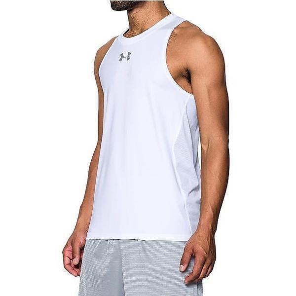 (セール)UNDER ARMOUR(アンダーアーマー)バスケットボール メンズ ノースリーブ UA BASELINE PERFORMANCE TANK 1290588 メンズ WHITE/WHITE/STEEL