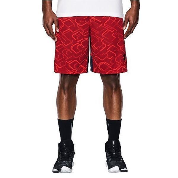 (セール)UNDER ARMOUR(アンダーアーマー)バスケットボール メンズ プラクティスショーツ UA CROSS COURT 10IN SHORT 1294479 メンズ RED/BLACK/BLACK