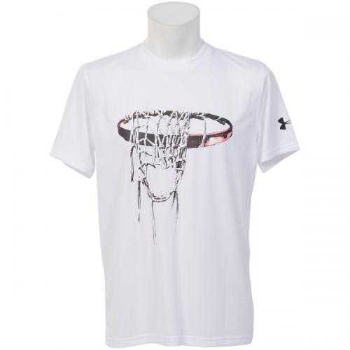 (セール)UNDER ARMOUR(アンダーアーマー)バスケットボール メンズ 半袖Tシャツ UA TECH SFB T 1295516 メンズ WHITE/BLACK/BLACK