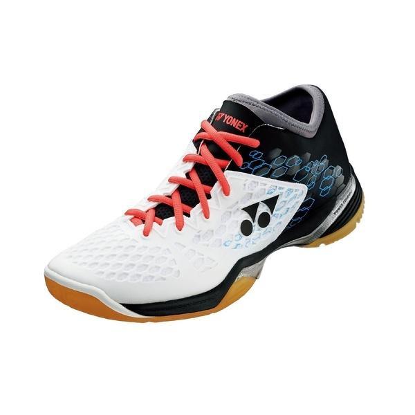 (セール)(送料無料)YONEX(ヨネックス)テニス バドミントン バドミントンシューズ パワークッション03ミッド SHB03MD 141 W/BK