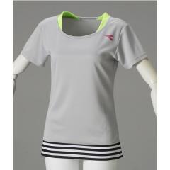 (セール)DIADRA(ディアドラ)テニス バドミントン レディースTシャツ Wレイヤードトップ DTL7544-94 レディース シルバー