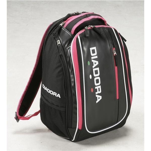 (セール)DIADRA(ディアドラ)ラケットスポーツ バッグ ケース類 ラケットバックパック DTB7635-9943 F ブラックxピンクFL