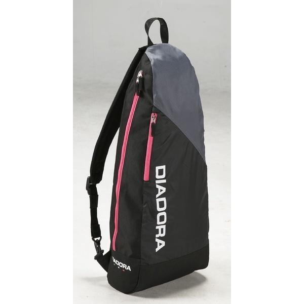 (セール)DIADRA(ディアドラ)ラケットスポーツ バッグ ケース類 ラケットショルダー DTB7637-9943 F ブラックxピンクFL