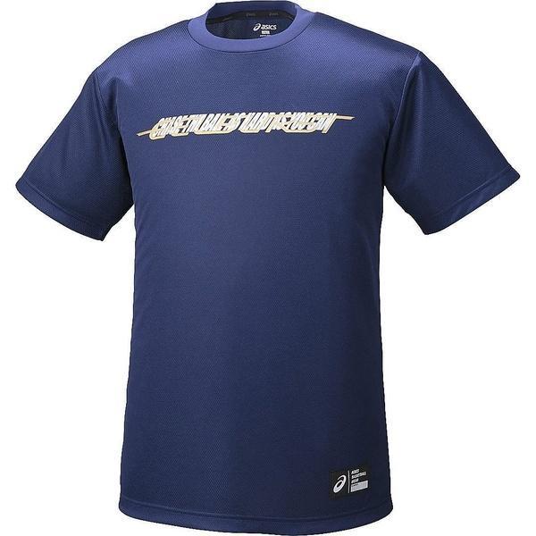 (セール)ASICS(アシックス)バスケットボール メンズ 半袖Tシャツ プリントTシヤツHS XB6603.49A ジュニア インデイゴA