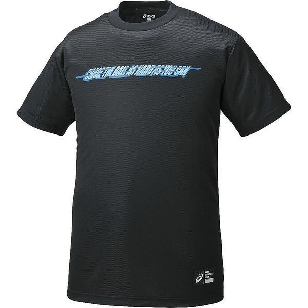 (セール)ASICS(アシックス)バスケットボール メンズ 半袖Tシャツ プリントTシヤツHS XB6603.90A ブラツクA
