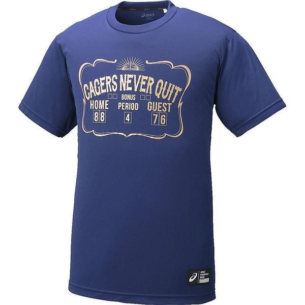 (セール)ASICS(アシックス)バスケットボール メンズ 半袖Tシャツ プリントTシヤツHS XB6607.49A インデイゴA