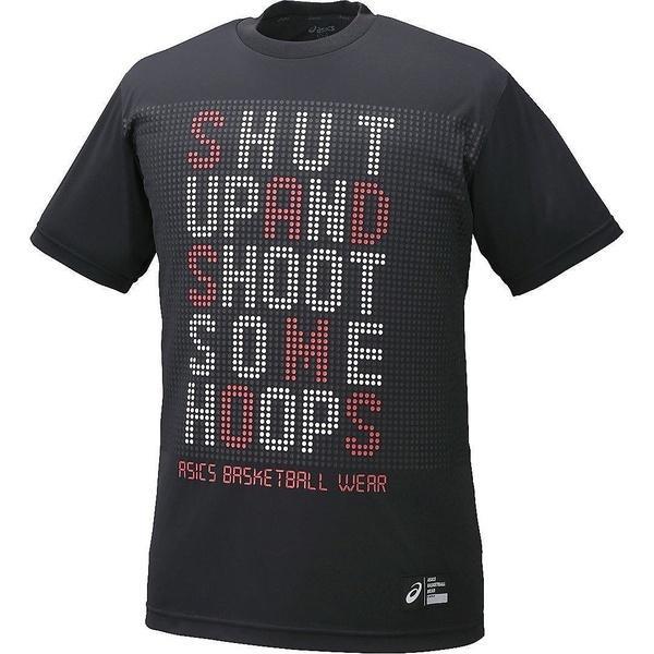 (セール)ASICS(アシックス)バスケットボール メンズ 半袖Tシャツ プリントTシヤツHS XB6609.90B ブラツクB