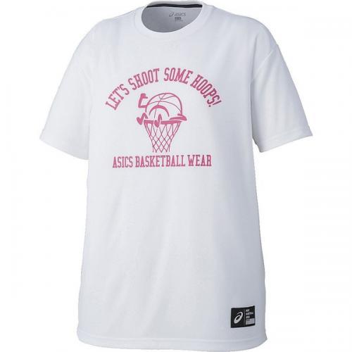 (セール)ASICS(アシックス)バスケットボール レディース 半袖Tシャツ W'SプリントTシヤツHS XB6611.01A レディース ホワイトA