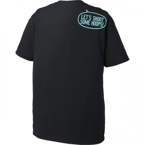 (セール)ASICS(アシックス)バスケットボール レディース 半袖Tシャツ W'SプリントTシヤツHS XB6611.90A レディース ブラツクA