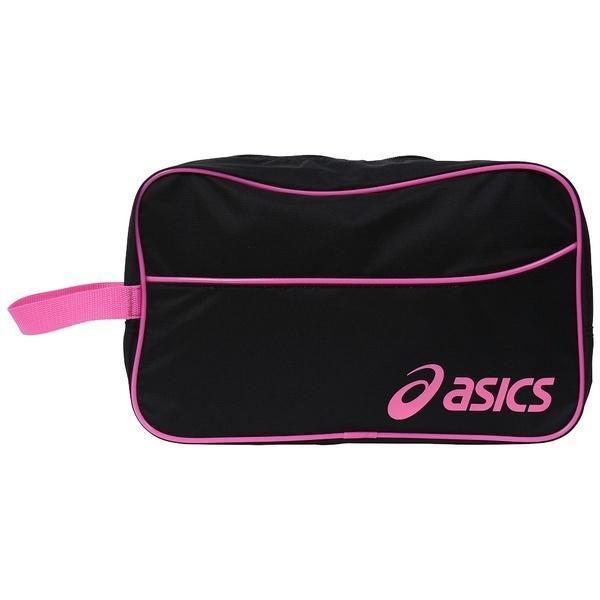 (セール)ASICS(アシックス)バスケットボール シューズアクセサリー SHOEBAG L EB058A.9028 F BLK/R.ピンク