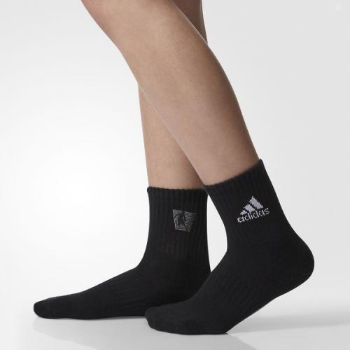 adidas(アディダス)バスケットボール メンズソックス BASKET BUKATSU SOCKS DMK68 BR1319 2325 ブラック/ホワイト