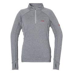 (セール)(送料無料)Phenix(フェニックス)トレッキング アウトドア 長袖Tシャツ TRIENT L/S ZIP MOC PH722LS69GR レディース GR