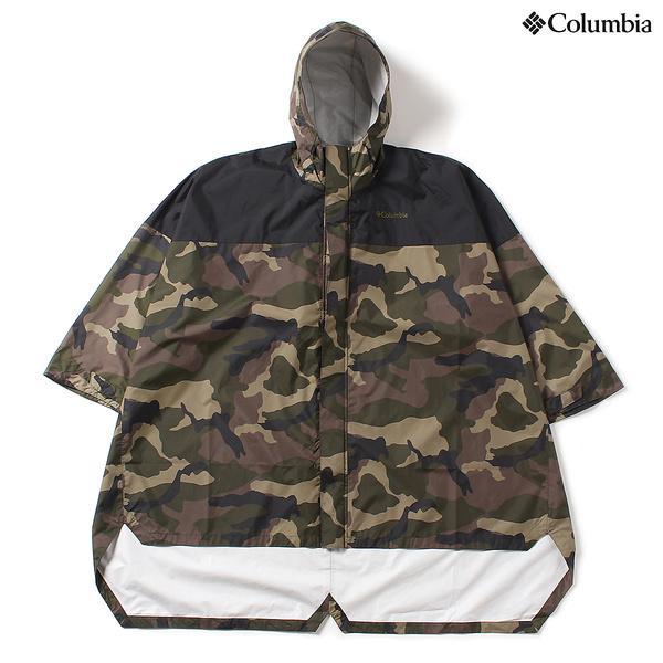 (セール)(送料無料)Columbia(コロンビア)トレッキング アウトドア ポンチョ スペイパインズポンチョ PU1482-365 SAGE CAMO