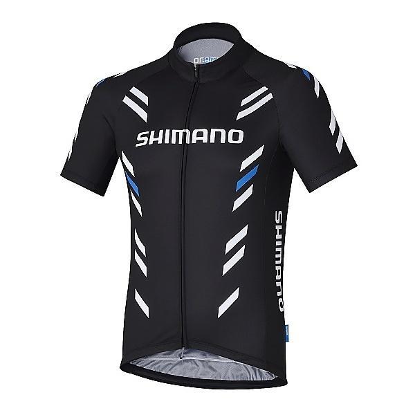 (送料無料)SHIMANO(シマノ)バイク 自転車 バイクアパレル プリント ショートスリーブ ジャージ ECWJSGSQS51ML2 メンズ S ブラック