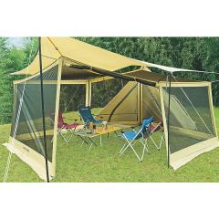 (送料無料)UNIFLAME(ユニフレーム)キャンプ用品 ファミリータープ REVOタープL メッシュウォールセット 681688