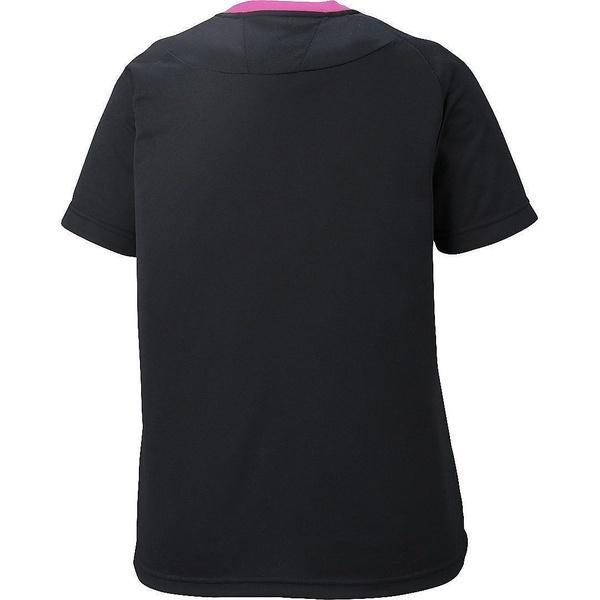 (セール)ASICS(アシックス)バレーボール 半袖プラクティスシャツ W'SプラシヤツHS XW6224.9030 レディース BKXピンクグロ