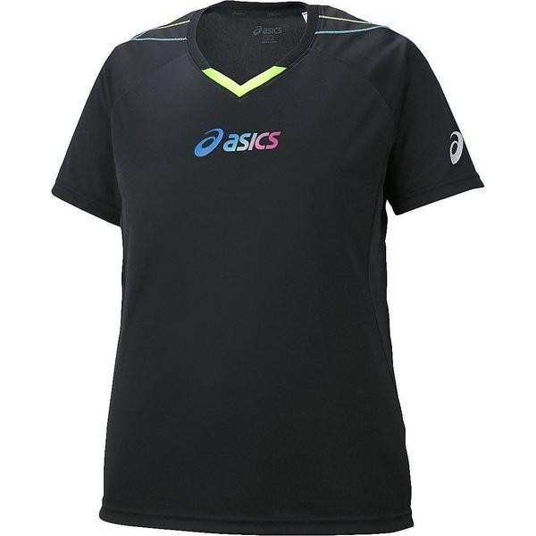 (セール)ASICS(アシックス)バレーボール 半袖プラクティスシャツ W'SプラシヤツHS XW6225.9005 レディース BKXセーフテイイエ