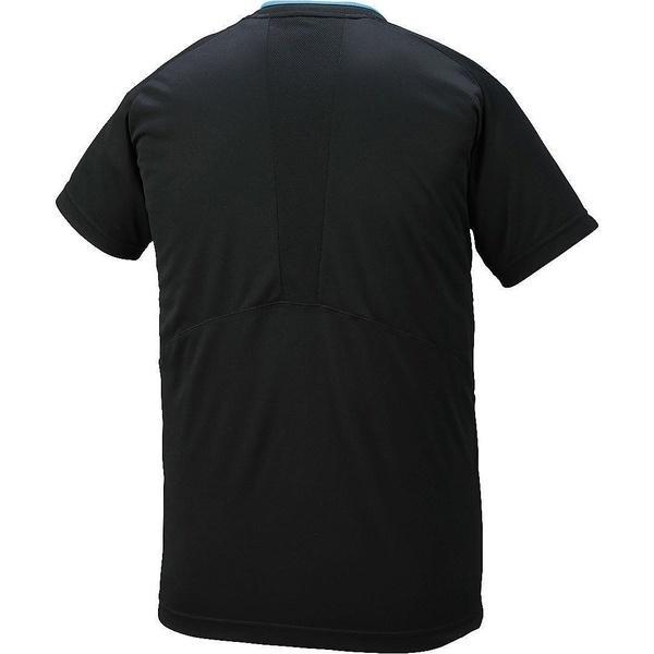 (セール)ASICS(アシックス)バレーボール 半袖プラクティスシャツ プラシヤツHS XW6725.9037 BKXGブルー
