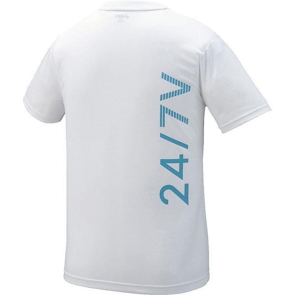 (セール)ASICS(アシックス)バレーボール 半袖Tシャツ プリントTシヤツHS XW6726.01 ジュニア ホワイト