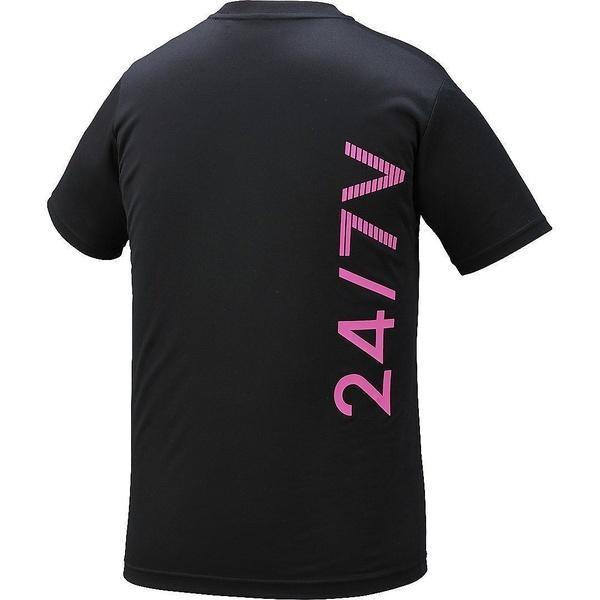 (セール)ASICS(アシックス)バレーボール 半袖Tシャツ プリントTシヤツHS XW6726.90 ジュニア ブラツク