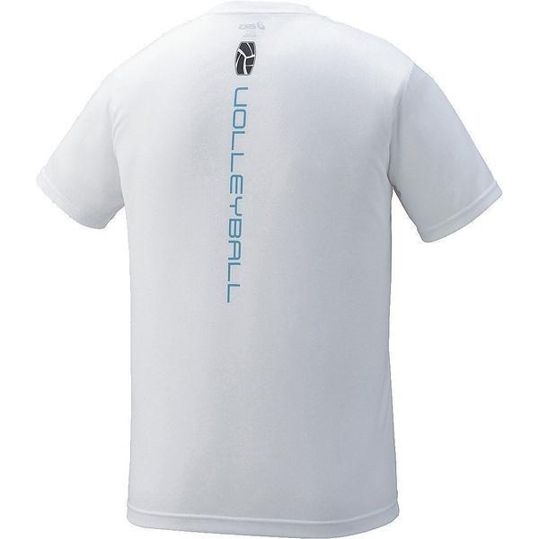 ASICS(アシックス)バレーボール 半袖Tシャツ プリントTシヤツHS XW6728.01A ホワイトA
