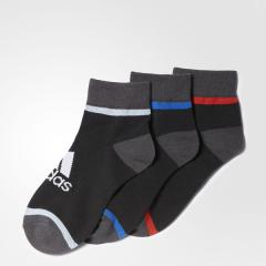 アディダス (セール)adidas(アディダス)スポーツアクセサリー ソックス KIDS 3P ショートソックス DMK62 BR6150 ボーイズ 1921 ブラック/ブラック/ブラック