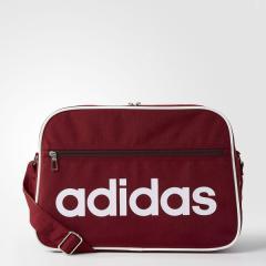 (セール)adidas(アディダス)スポーツアクセサリー エナメルバッグ リニア ショルダーバッグ M DMC99 BR6358 NS カレッジエイトバーガンディ