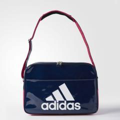 (セール)adidas(アディダス)スポーツアクセサリー エナメルバッグ BASIC エナメル L BIP41 BS0735 NS カレッジネイビー/ボールドピンク