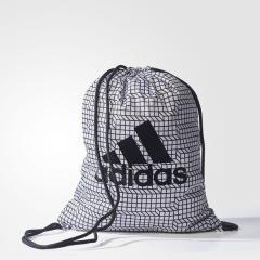 (セール)adidas(アディダス)スポーツアクセサリー ナップサック ビッグロゴ ジムバッグ BRS BVB42 S99654 NS ホワイト/ブラック/ブラック