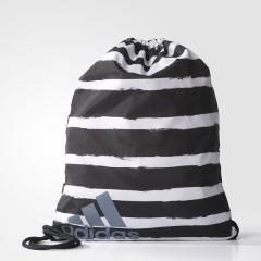 adidas(アディダス)スポーツアクセサリー ナップサック ストライプジムバッグ BVB44 S99656 NS ブラック/ホワイト/ホワイト