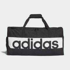 adidas(アディダス)スポーツアクセサリー ボストンバッグ リニアロゴチームバッグM BVB06 S99959 M ブラック/ブラック/ホワイト