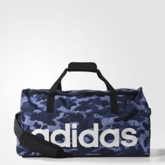 adidas(アディダス)スポーツアクセサリー ボストンバッグ リニアロゴチームバッグM BVB07 S99963 M タクティルブルー S17/カレッジネイビー/ホワイト