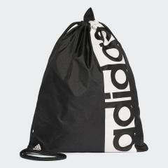 adidas(アディダス)スポーツアクセサリー ナップサック リニアロゴ ジムバッグ BVB29 S99986 NS ブラック/ブラック/ホワイト