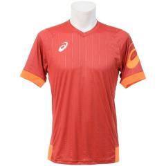 (セール)ASICS(アシックス)サッカー 半袖プラクティスシャツ プラシャツHS XS6095.24 メンズ ストロングレツド