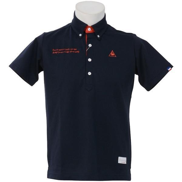 (セール)le coq GOLF(ルコックゴルフ) ゴルフ 半袖ポロ 半袖ハイネック ハンソデシヤツ(ニツト)QG1505 メンズ M205