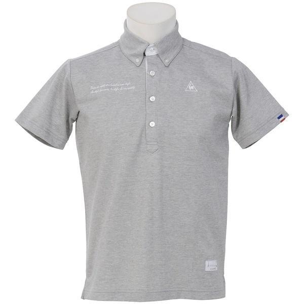 (セール)le coq GOLF(ルコックゴルフ) ゴルフ 半袖ポロ 半袖ハイネック 半袖シャツ(ニット) QG1505 メンズ N600