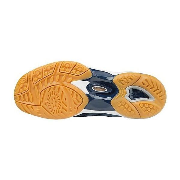 (送料無料)MIZUNO(ミズノ)バレーボール シューズ  ミドルカット ハイカット WAVE ARTEMIS 3 MID V1GC155850 レディース ホワイトxネイビーxゴールド